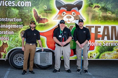 Wildlife X Team® Fort Worth Technicians in Front of Truck